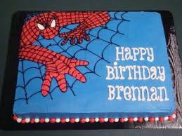 Spiderman Birthday Cakes This Is A White Cake With Cookies N Cream