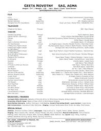Movie Theatre Resume Musical Theatre Cv Template Resume Sample Here Are Actors Example