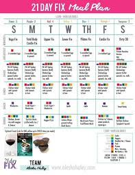 Exercise Calorie Chart Pdf Free 21 Day Fix Meal Plan For 1400 Calorie Range Printable