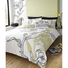 ellie lime green janet reger designed duvet cover