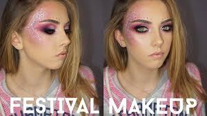 festival coaca glitter makeup tutorial
