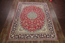 9 11 x 12 10 hand knotted semi antique red persian najafabad isfahan oriental area rug 12980455