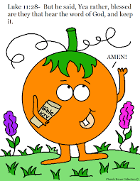 Free Printable Pumpkin Holding Bible Coloring