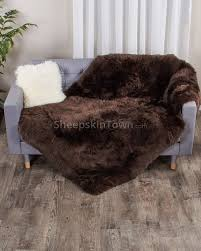 large brown sheepskin area rug 4x6 ft
