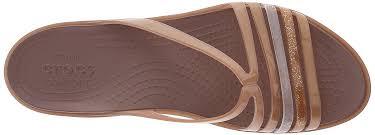 Crocs Womens Isabellaminwdg Sandals Black 10 M Us Nude