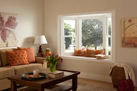 living room picture windows. Fine Room Bay Window With Seating In Warm Living Room On Living Room Picture Windows N
