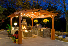 hearthside pergola with simple pergola lighting by kloter farms