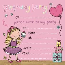 Girls Party Invitation