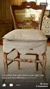 pretty scalloped slipcover for a dining chair