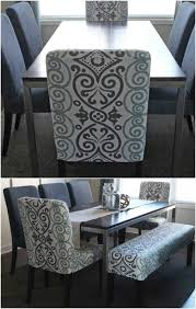 diy dining chair slipcovers from old tablecloth