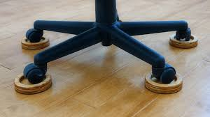 wood floor office. Save Your Wood Floor From The EVIL Office Chair With These DIY Caster Coasters! E