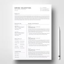 Clean Resume Template Iconscolorareascolored Art Fonts