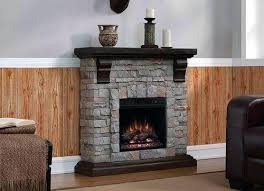 artificial fireplaces mantel packages electric how do work at