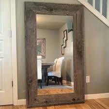 wood floor length mirror reclaimed wood mirror rustic home decor mirror reclaimed black wood framed full