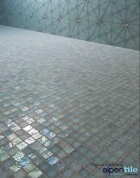 glass mosaic shower floor logo