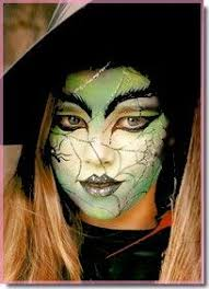 face paint half face witch google search