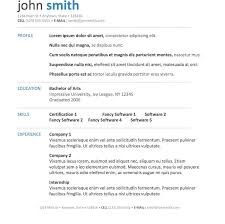 Free Executive Resume Template Simple Impressive Free Resumes Templates Resume Outline Word Professional
