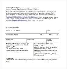 15 internship application templates