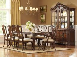 elegant dining room sets. Formal Dining Room Furniture Sets With Round Table Made Of Wood And Armchairs Upholstered Wooden Base Elegant S