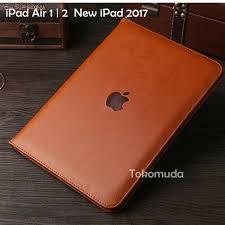 case the new ipad 2017 ipad air 1 2 3 ipad pro 9 7 book leather cover hitam