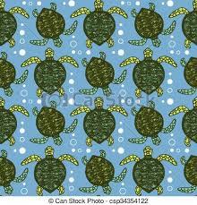 Turtle Pattern Amazing Sketch Sea Turtle Pattern In Vintage Style