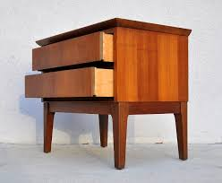 mid century modern bedside table. Wallnut Wood Mid Century Modern 2 Drawer Nightstand With Angled Legs Bedside Table