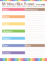 one week menu planner 8 best images of weekly meal planner printable printable weekly