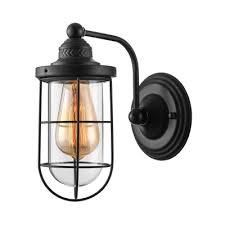 lantern single light wall sconce in