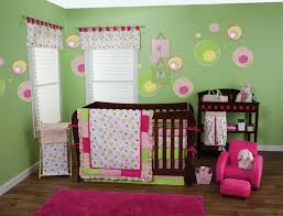 pink and green chevron pink and lime green baby bedding