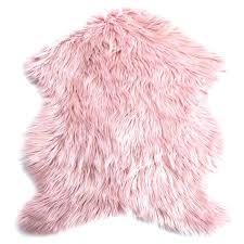 faux fur rug pink light sheepskin kmart