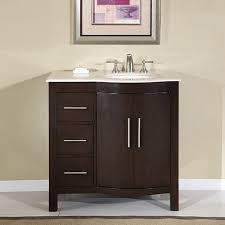 36 Inch Modern Single Sink Bathroom Vanity with Cream Marfil ...