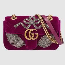 gucci bags velvet. gg marmont embroidered velvet mini bag gucci bags
