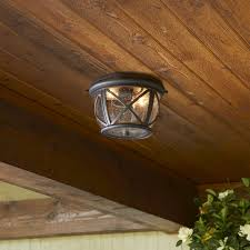 outdoor flush mount ceiling light