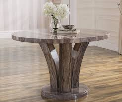 vida living amalfi pearl grey marble round dining table only