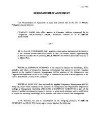 Memorandum Of Understanding : Download, Edit, Fill & Print ...