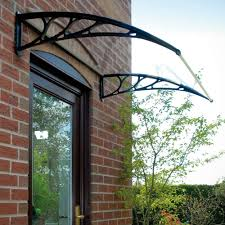 wall mounted outside garden door canopy black