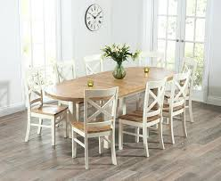 extending dining table and 6 chairs oak. full image for mark harris cheyenne oak and cream oval extending dining table with 6 cavanaugh chairs