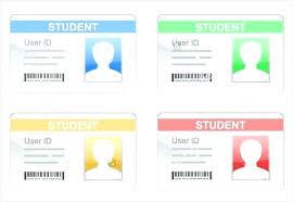 Printable Identification Card Student Id Card Template College Student Id Card Templates