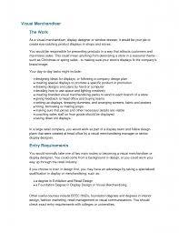 Visual Merchandising Manager Resume Resume Online Builder