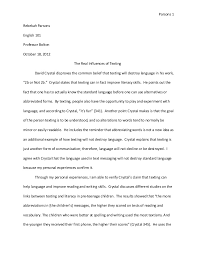 text analysis essay revised text analysis essay revised parsons 1rebekah parsonsenglish 101professor bolton 18