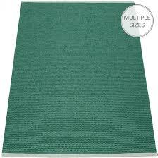 pappelina mono dark green jade large rug