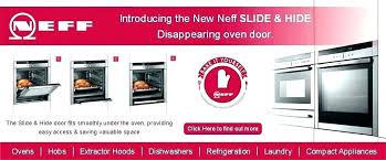oven with sliding door black neff single oven with slide away door