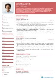 A modern resume example for a front end developer position. Web Developer Resume For 2021 Guide Examples