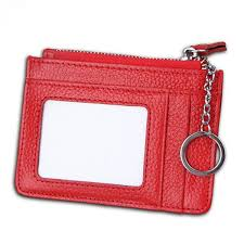rfid genuine leather card holder small changes bag coin purse for men and women cod