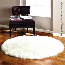 gy white rug thick plush round area rug premium faux fur soft designer sheepskin gy