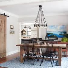 M Country Dining Room With Blue Rug