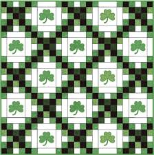Green Quilts, Projects and Patterns: Your Lucky Day! & shamrock chain quilt Adamdwight.com