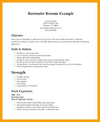 Sample Resume For Bartender Free Bartender Resume Templates