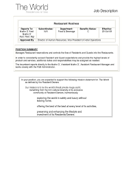 Duties Of A Hostess For Camp Nurse Cover Letter What To Write For