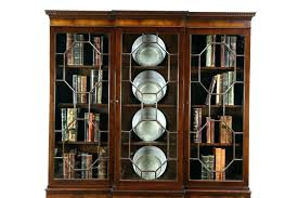 contemporary bookcases with glass doors mahogany bookshelf with doors mahogany bookcase antique mahogany within modern bookcase